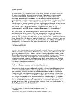 Ekonomiska system och Fördelningspolitik - Fördelar och Nackdelar   Fördjupningsuppgift