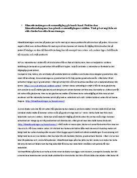 Frågor och svar: Vattentillgång, vattenpåverkan, vattenfördelning - Geografi A