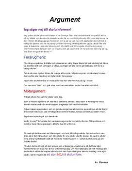 argument text exempel