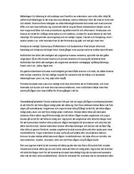 Fältobservation: Hälsningar och beteendemönster - Psykologi A