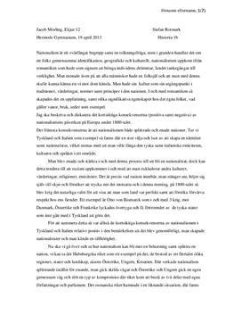 Nationalism och Demokrati under 1800-talets Europa | Historia 1b