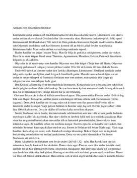 Fördjupningsuppgift: Antikens och medeltidens litteratur - Svenska B