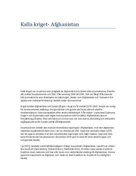 Kalla kriget och Afghanistan | Historia 1b