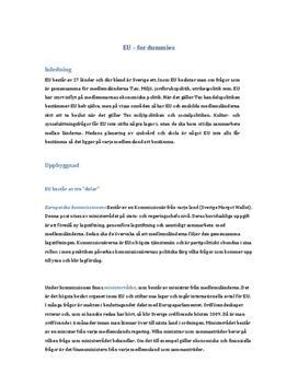 Introduktion till EU (Europeiska Unionen) och EMU
