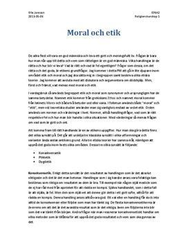 Fördjupningsuppgift: Moral, Etik och Dödshjälp - Religionskunskap 1