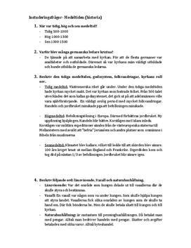 Medeltiden | Frågor och Svar
