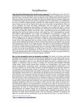 Socialliberalism | Bakgrund och Konsekvens | Samhällskunskap B