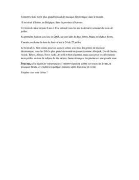Festival i ett franskspråkigt land | Tomorrowland | Franska steg 4
