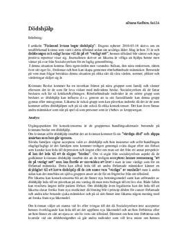 Dödshjälp | Etik och Moral | Religionskunskap 2