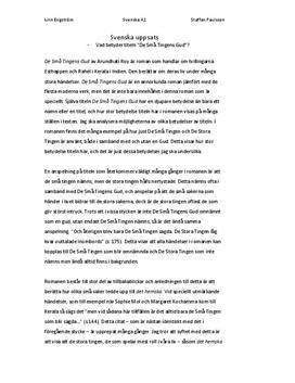 De Små Tingens Gud av Arundhati Roy   Analys