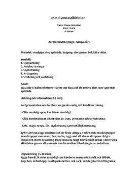 Gymnastiklektion | Aerobics och MRL | Idrott och hälsa 2