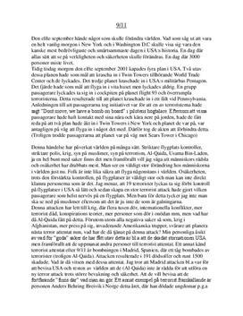 11:e september   Terrorattack   Orsaker och konsekvenser   SKOÅR-modellen
