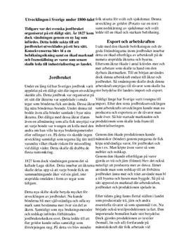 Sverige under 1800-talet | Jordbrukets utveckling | Historia 1b