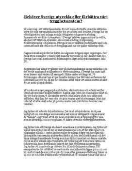 Välfärd och trygghetssystem i Sverige | Sjukvård | Skatter
