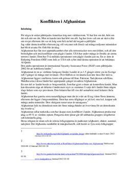 USAs invasion av Afghanistan | Orsaker och Konsekvenser | Historia A