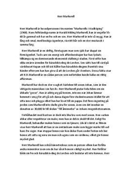 Markurells i Wadköping | Personbeskrivning