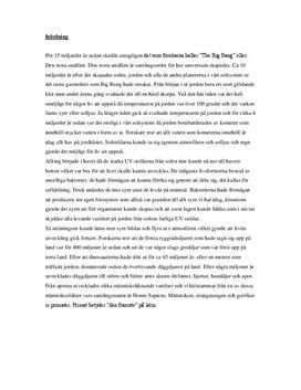 Evolution och Människans utveckling | Biologi