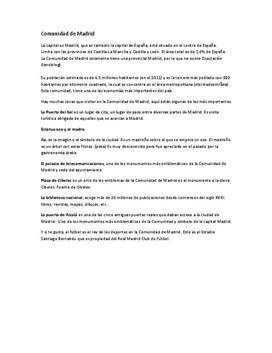 Comunidad de Madrid | Presentation | Spanska