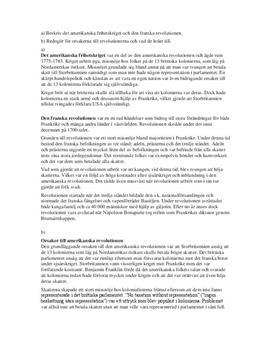 Amerikanska och Franska Revolutionerna | Orsaker och Följder