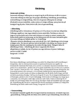 Joniserande strålning | Alfa | Beta | Gamma | Skador