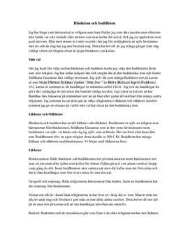 Likheter och Olikheter | Hinduism och Buddism | Religion