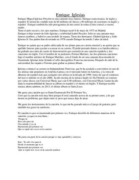 Enrique Iglesias | Spansktalande artist | Spanska