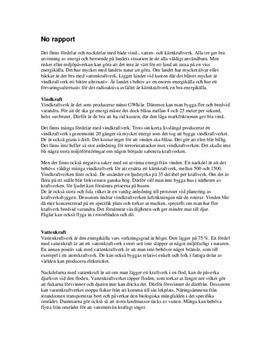 Energi och kraftverk | Vindkraft | Vattenkraft | Kärnkraft