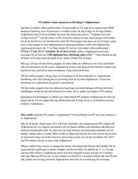 FN-soldater i Afghanistan | Debatt | Argumenterande text