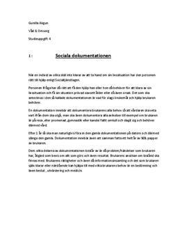 Social dokumentation | Genomförandeplan | Osteoporos