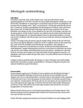 Politiska ideologier   Svenska partier