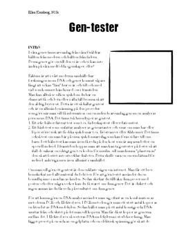 Fördelar och nackdelar med gentester | Diskuterande text