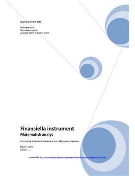 Finansiella instrument | Exempel | Rapport | Gymnasiearbete