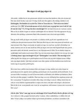 Språklig variation och dialekt | Utredande text
