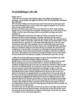 Livsåskådning och Etik   Diskuterande text