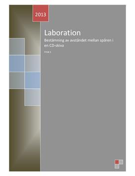 Interferens med gitter | Labbrapport