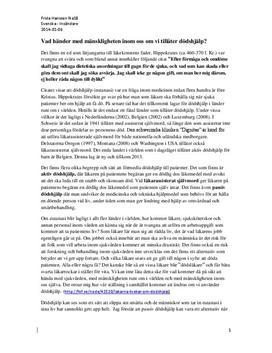 Emot dödshjälp (eutanasi) | Argumenterande text