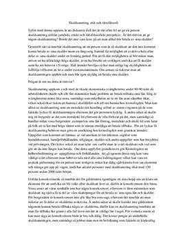 Skuldsanering - etik och rättsfilosofi | Inläningsuppgift