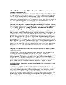 Källkritik och historieskrivning | Frågor och svar
