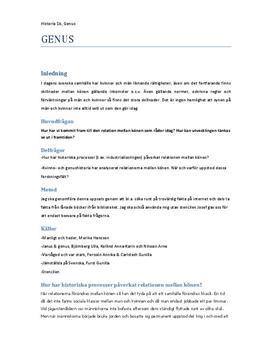 Genus och könsroller | Fördjupningsarbete