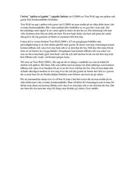 Spöken och Gastar | Referat