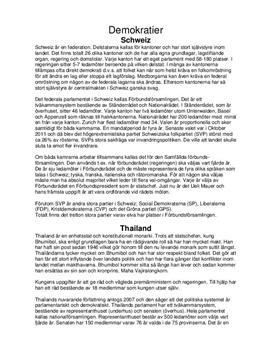 Styrelseskick i Schweiz och Thailand | Jämförelse