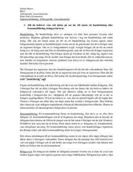 Associationsrätt | Fördjupningsuppgift