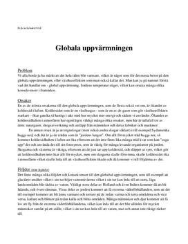 Global uppvärmning | Utredande text