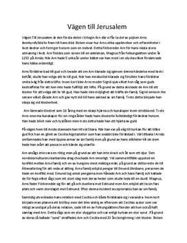 Jan Guillou: Vägen till Jerusalem   Recension