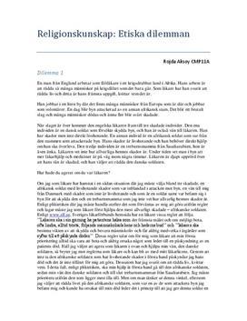 Etiskt dilemma för läkare | Diskussion