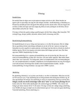 Företagsformer | Sammanfattning