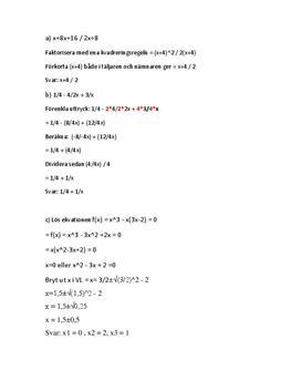 Uträkning av matematikuppgifter | Kvadrering, Förenkling, Ekvation