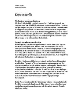 Fredriks Reinfeldts kroppsspråk | Analys