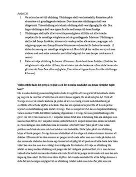 Rätten till utbildning | Mänskliga rättigheter | Diskuterande text