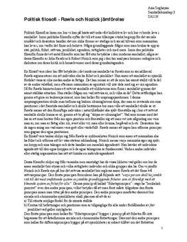 Politisk filosofi | Robert Nozick och John Rawls | Jämförelse